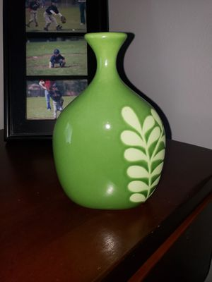 Crate & Barrel Green Vase for Sale in Vancouver, WA