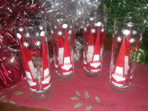 Vintage Dairy Queen Santa Claus glasses for Sale for sale  Lithonia, GA
