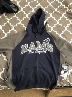 New Men's Medium LA Los Angeles Rams NFL Blue Zipper Up Hoodie Jacket for Sale in Las Vegas, NV