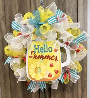 Hello summer wreath for Sale in Brooklyn, NY