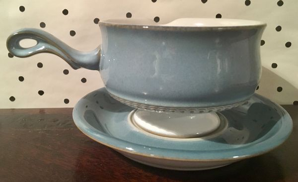 Denby England gravy boat and plate