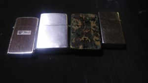 4 Vintage Zippo Lighters for Sale in Piedmont, SC