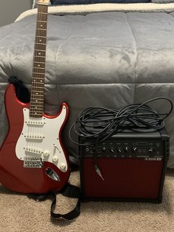 Fender, Squire, Electric Guitar, Guitar Case, Guitar Amp for Sale in Sandy,  OR