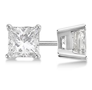 Brand New Certified 1.01 CTW Princess Diamond Stud Earrings I/SI3 for Sale in San Francisco, CA