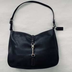 Coach Black Leather Hobo-Style Hand Bag for Sale in Houston, TX