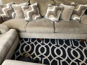 Sofa, love seat, ottoman & oversized love chair with pillows for Sale in Houston, TX