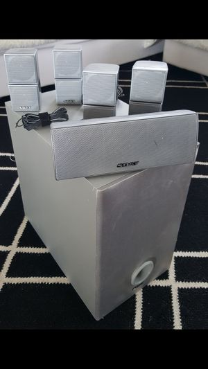 Fully Functional 6 Pieces Stereo Home Threatre Audio Speakers System + Subwoofer INCLUDED for Sale in Monterey Park, CA