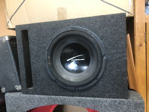 """Audiobahn 12"""" ported box with blown sub for Sale in Manassas, VA"""