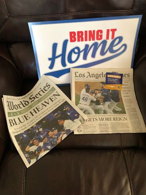 Dodgers World Series 2020 newspaper for Sale in Los Angeles, CA