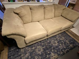 Tan Microfiber Couch for Sale in Lincoln, CA