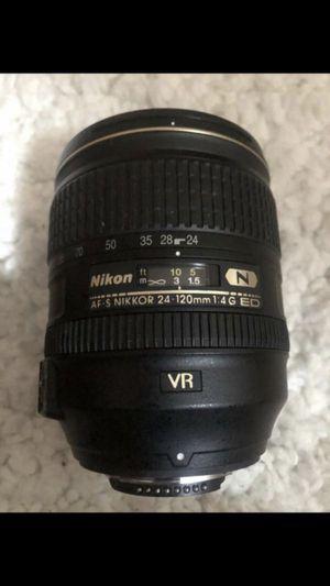 Nikon - AF-S NIKKOR 24-120mm f/4G ED VR Standard Zoom Lens - Black for Sale in Queens, NY