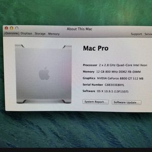 Mac pro 2008 w/ monitor for Sale in Portland, OR