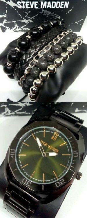 Steve Madden Men's Watch and Bracelet Gift Set Brand New in Box for Sale in Boca Raton, FL