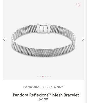 Pandora Reflexions Mesh Bracelet with Infinity charm for Sale in San Diego, CA