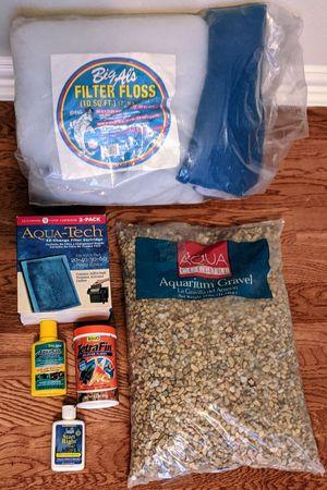 25 lbs Aquarium Gravel Rocks Filter Floss 3 Aqua Tech Power Filters for Sale in Plano, TX