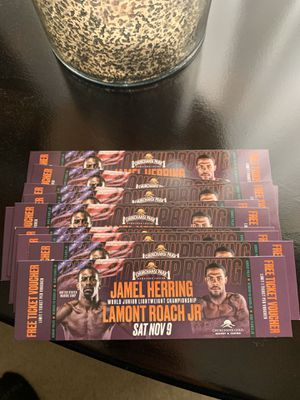 BOXING TICKETS Saturday, November 9th!!!! for Sale in Sanger, CA