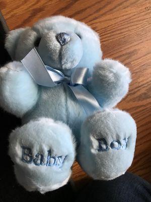 "Blue bear""baby boy ""stuffed animal $6.00 for Sale in Menifee, CA"