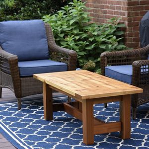 Outdoor coffee table made out of redwood for Sale in Torrance, CA