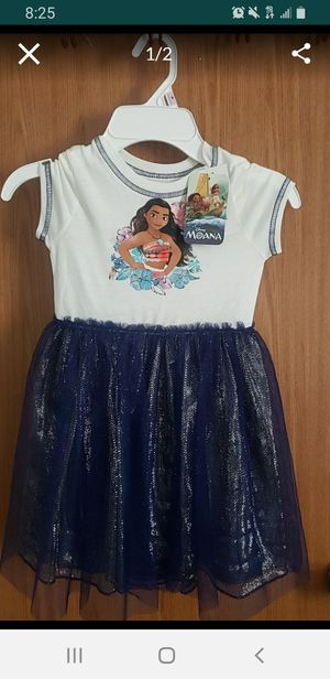 New pretty dress moana size 4t for Sale in Irving, TX