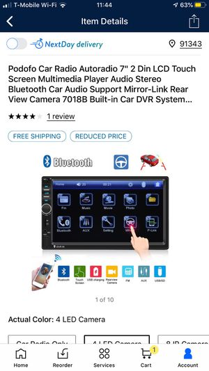 Stereo sistem with blutooth and back up camera + iPhone mirroring for Sale in Los Angeles, CA