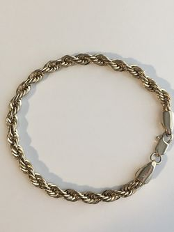 """8"""" 14k Gold Rope Chain Bracelet- 11.6g for Sale in Newton,  MA"""