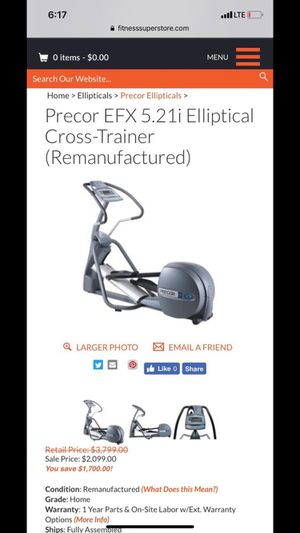 Precor EFX 5.21i Elliptical Cross-Trainer for Sale in Everett, WA