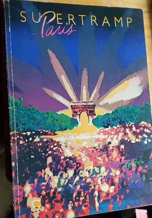 RARE SUPERTRAMP PARIS - SONGBOOK (SONG BOOK) WITH SHEET MUSIC FOR PIANO AND VOICE WITH GUITAR CHORDS for Sale in Fenton, MO