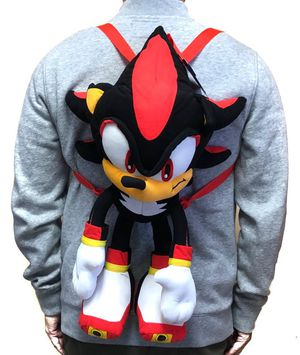 Brand NEW! Shadow Sonic The Hedgehog Novelty Plush Backpack W/Small Zippered Pouch For Everyday Use/Gaming/Toys/Parties/Birthday Gifts/Holiday Gifts for Sale in Carson, CA