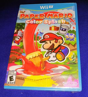 NINTENDO WII U PAPER MARIO COLOR SPLASH BRAND SPANKING NEW SEALED for Sale in Escondido, CA