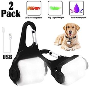Dog Light with USB Rechargeable, Fashion Light Up Dog Collar Light, Led Safety Emergency for Sale in Plainfield, IL
