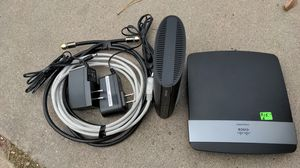 Modem and router and cables for internet for Sale in Littleton, CO
