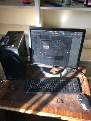 Hp desktop w/ monitor setup for Sale in Richmond, VA