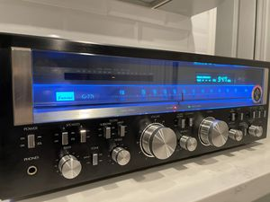 SANSUI Vintage Stereo Receiver Blackface very Rare 120 Watts/ channel for Sale in West Covina, CA