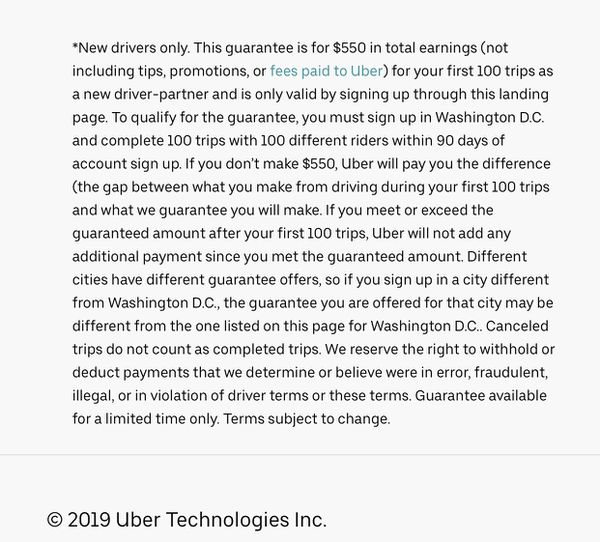Uber driver promo code $550 guaranteed
