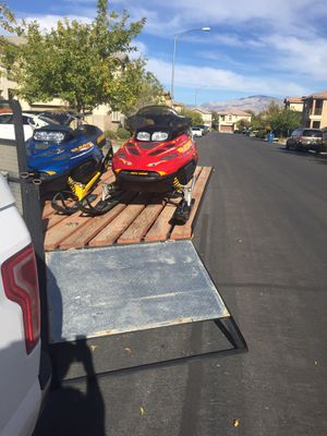 SkiDoo Snowmobiles & Trailer Combo for Sale in Las Vegas, NV