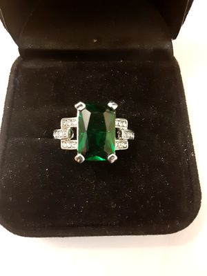 Emerald Diamond Ring for Sale in Portage, IN