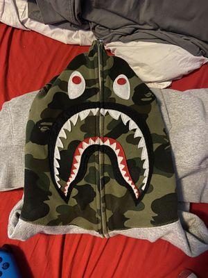 Bape grey ponr zip up hoodie for Sale in Portland, OR