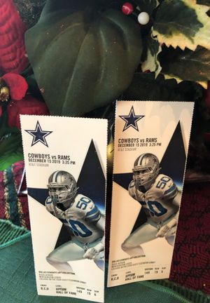 A great option for Cowboys Rams on December 15, 2019. Lower level 149: 2 seats $320 each. for Sale in Arlington, TX