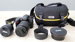 Nikon D7000 + Nikor 18-140 mm lens + 50 mm prime lens + more - 299$ for Sale in Issaquah, WA