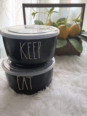 """Rae Dunn """"Eat & Keep"""" Food Storages Bowl for Sale in Cleveland, OH"""