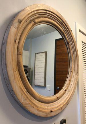 Wooden Circular Mirror for Sale in Washington, DC