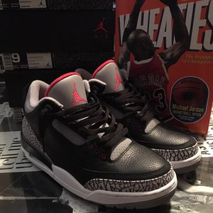 "Retro Air Jordan 3 ""Black Cement"" Size 9 for Sale in West Palm Beach, FL"