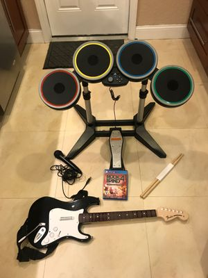 Rock Band 4 game set for PS4 for Sale in Miami, FL