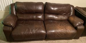 Brown leather couch for Sale in Gilbert, AZ
