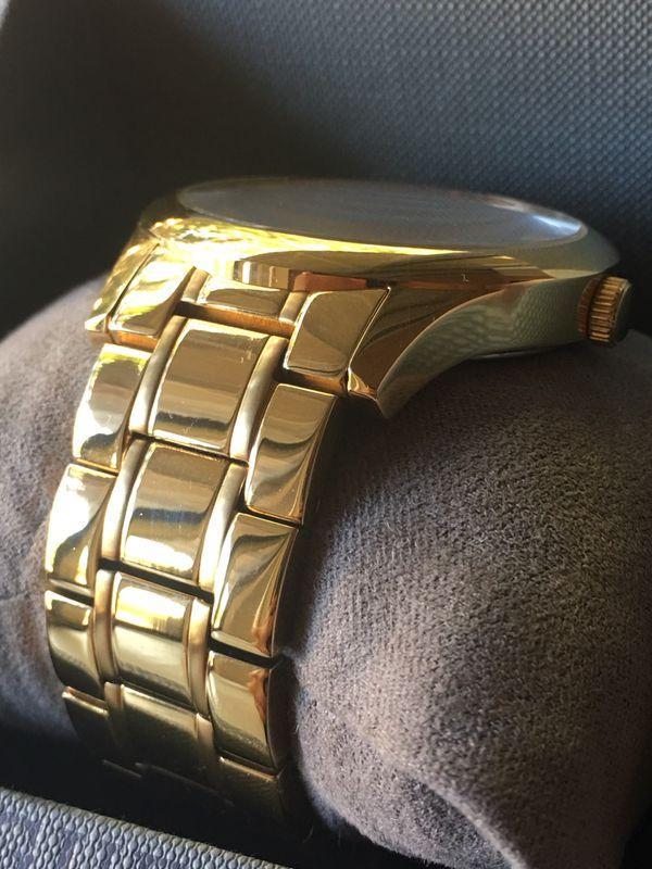 Men's Gold GUESS Watch