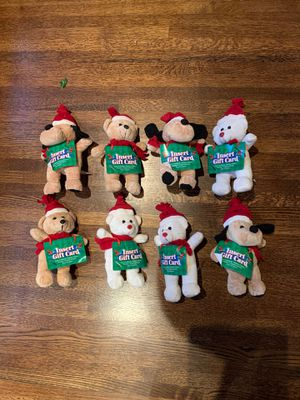 GIFT CARD HOLDERS ~ 8 STUFFED ANIMALS (NEW) for Sale in Pasadena, CA