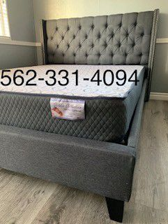 💥New Gray Queen Bed w Mattress Included💥 for Sale in Fresno, CA