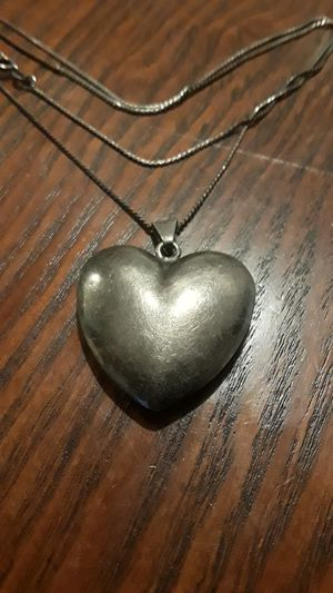 Gorgeous Sterling Silver 925 heart pendant with Sterling Silver 925 necklace. for Sale in New York, NY