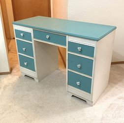 Very Nice Blue And White Desk / Vanity for Sale in Seattle,  WA