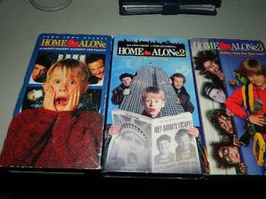 VHS Tapes All Three Home Alone Tapes. for Sale in Winfield, IL